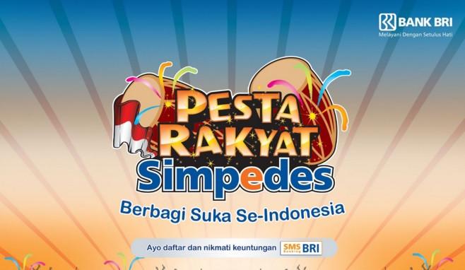 Pesta Rakyat Simpedes (PRS) Bank BRI Sapa dan Hibur Masyarakat. BRI Simpedes Sediakan Belasan Ribu Hadiah