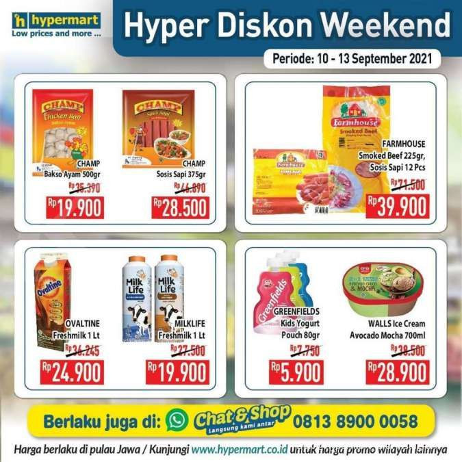 Promo JSM Hypermart Jumat Sabtu Minggu 10-13 September 2021, Cek Riau